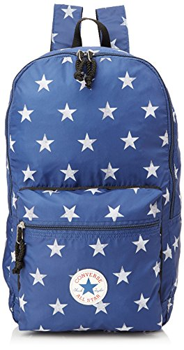 Converse Ct Packable Graphic Zaino, Unisex Adulto, Blu/Stelle Bianche, 43X28X18