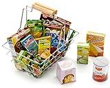 リアルなドイツのままごとセット 「食料と買い物カゴ」 Shopping Basket With Groceries