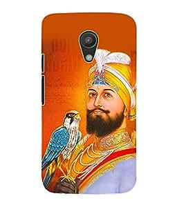 Fuson 3D Printed Lord Guru Gobind Singh Designer Back Case Cover for Motorola Moto G2 - D524