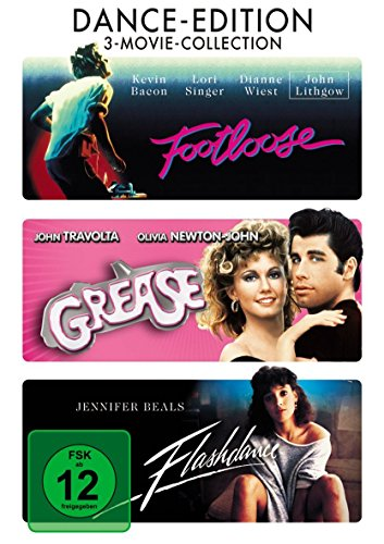 Footloose - Grease - Flashdance - 3 DVD Set