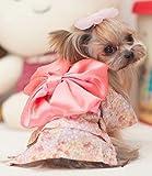 大和撫子! 犬 猫 用 浴衣 ( ブラック or ピンク ) 着物 夏祭り コスプレ 【Honi*】 (M, ピンク)