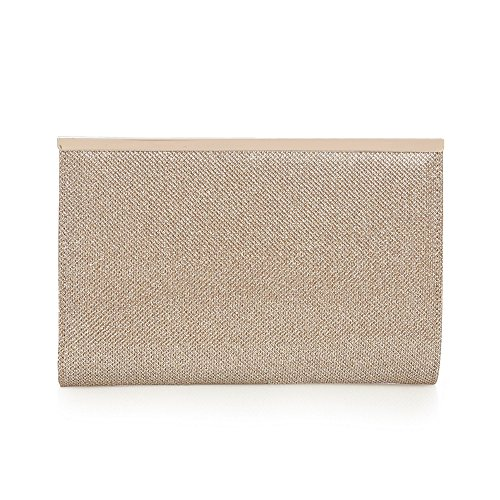 debut-womens-gold-glitter-zip-clutch