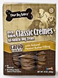 Three Dog Bakery Classic Creme Carob with Peanut Butter, Baked Dog Treats, 16-Ounce
