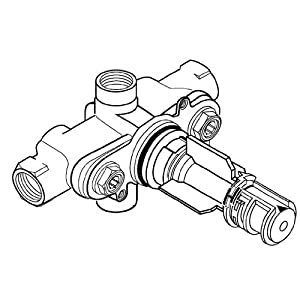 American Standard R510 Ceratherm Rough Valve Body with 1/2-Inch NPT Inlets/Outlets, 9.5 GPM at 40 PSI