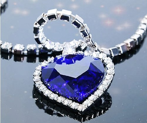 Heart-of-Ocean-Alloy-Blue-Sparkling-Rhinestone-Crystal-Diamond-Necklace-Chain-Pendant-Necklace