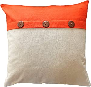 Amazon.com: Decorative Coconut Buttons Throw Pillow COVER 18