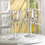 40 WEDDING CRYSTAL DROP CANDLEHOLDER CENTERPIECES