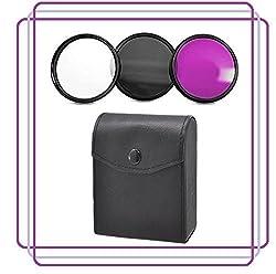 BlueTech 40.5MM Lens Filter Accessory Kit (UV, CPL, FLD) For Sony Alpha a6000, a5000, a5100, NEX 5T, NEX-5TL NEX-5TL/S, NEX-5TL/W, Mirrorless Digital Camera with 16-50mm Power Zoom Lens