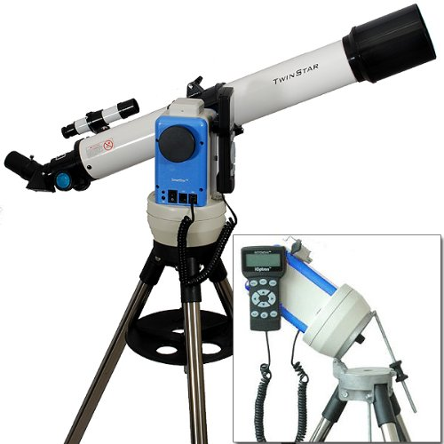 Twinstar White 70Mm Ioptron Computerized Gps Equatorial Refractor Telescope
