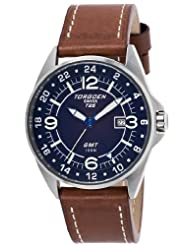 Torgoen Swiss Men's T25103 T25 GMT Stainless-Steel Date Aviation Watch