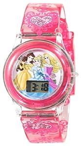 Disney Kids' PN1009 Princess Digital Dial Pink Jelly Strap Watch