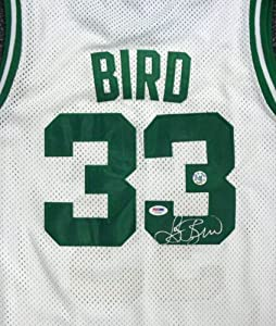 Larry Bird Autographed Hand Signed Boston Celtics White Jersey PSA DNA by Hall of Fame Memorabilia