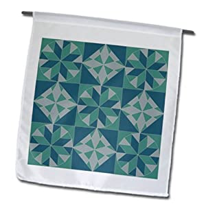 fl_35878_1 TNMGraphics Patterns - Turquoise Quilt Pattern - Flags - 12 x 18 inch Garden Flag