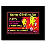QUEENS OF THE STONE AGE - 3s and 7s Matted Mini Poster - 21x13.5cm