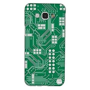 Designer Samsung Galaxy A8 Case Cover Nutcase - Circuit Board Green