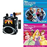 Karaoke USA GF829 Karaoke Machine with Disney Karaoke CD Bundle (Includes Frozen Karaoke CD)
