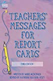 Teachers' Messages for Report Cards, Grades K - 8