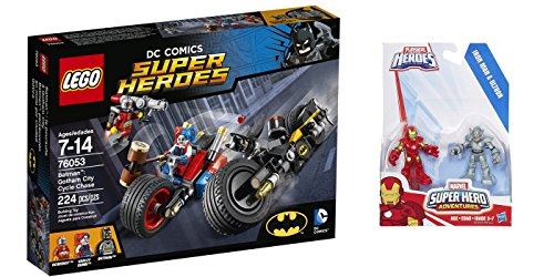 LEGO Super Heroes Batman Gotham City Cycle Chase 224 Pcs & free Gifts Super Hero Adventures Iron Man and Ultron Figures (Colors may vary) Toys (Lego Batman Decals compare prices)