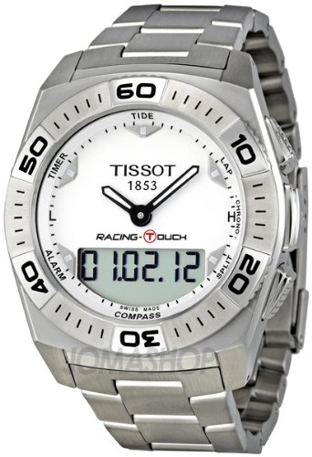 Tissot Racing Touch Silver Dial Stainless Steel Mens Watch T0025201103100