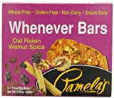 Pamelas Products Whenever Bars Oat Raisin Walnut Spice, 5 Count Box, 7.05-Ounce (Pack of 6)