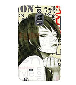 Fuson Fashion Girl Back Case Cover for SAMSUNG GALAXY NOTE EDGE - D4049