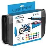 Letraset ProMarker Student Designer Set (24 colours + Wallet)