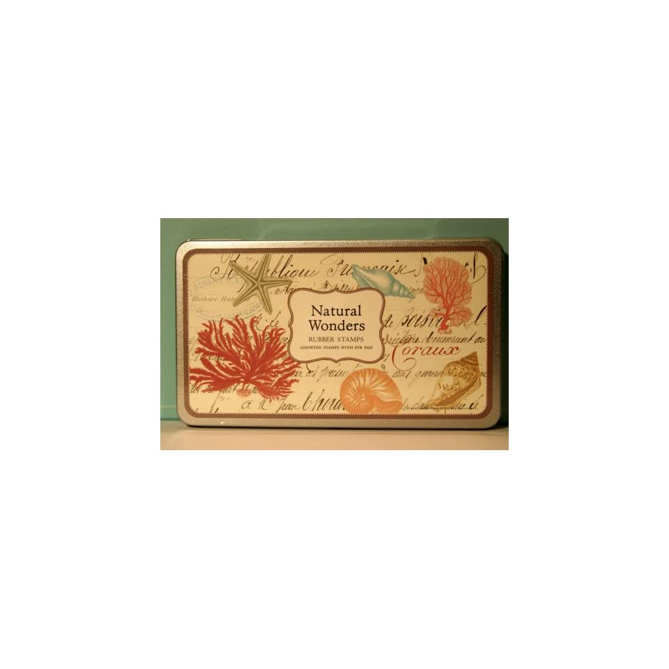 Natural Wonders Rubber Stamps Set By Cavallini & Co.