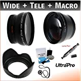 52mm Digital Pro Essential Lens Kit, Includes 2x Telephoto Lens + 0.45x HD Wide Angle Lens W/Macro + Flower Tulip... - B0089Y5ICO