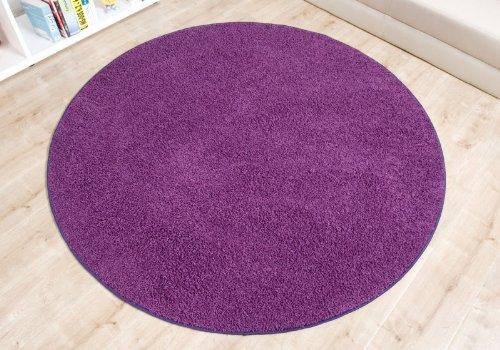 imut gesch ft shaggy teppich fan lila rund gr e ausw hlen 80 cm rund on sale. Black Bedroom Furniture Sets. Home Design Ideas