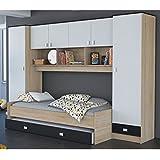 schrankbett klappbett kleiderschrank 215325 san remo eiche 90 x 200 cm. Black Bedroom Furniture Sets. Home Design Ideas