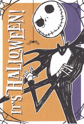 usually ships in 1 2 business days greeting card halloween nightmare before christmas - Nightmare Before Christmas Halloween