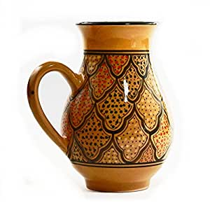 Le Souk Ceramique Large Pitcher Honey Design
