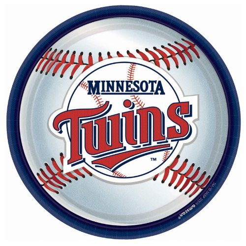 Amscan Minnesota Twins Round Dinner Plates, 9""
