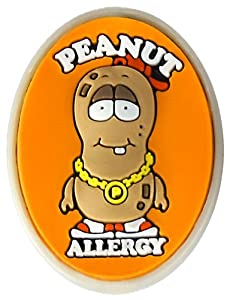 AllerMates Peanut Allergy Charm for Multi-Allergy Wristband: P. Nutty by Awearables, Inc.
