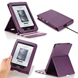 MoKo Vertical Flip Cover Case for Amazon New Kindle Paperwhite with Backlight, PURPLE (With Smart Cover Auto Wake / Sleep) ~ MoKo