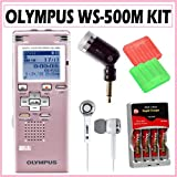 Olympus WS-500M 2GB Digital Voice Recorder and Music Player in Pink + Accessory Kit