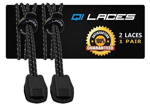 Qi Laces No Tie Elastic Shoelaces for Running (Neon Green Football Cleats compare prices)