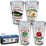 (Set of 4) Christmas Vacation Pint Glasses: 1989 Griswold National Lampoon