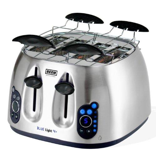 BEEM D1000.385 Blue Light 4+, 4-Schlitz-Toaster
