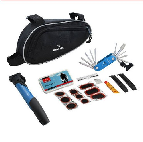 Bike Bicycle Cycling Tire Tyre Multi-use Repair Tools Pump Kits Bag Glue Patch