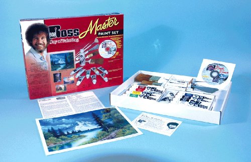 Bob Ross Master Painting Set with DVD and Painting Supplies