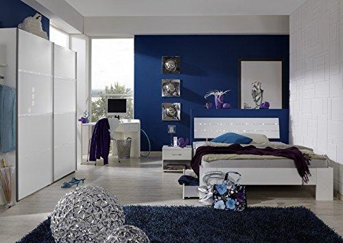 Jugendzimmer »MARRY« 6-tlg in alpinweiß – Strasskristall kaufen