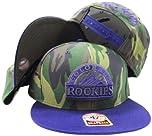 Colorado Rockies Two Tone Camouflage Adjustable Camo Snapback Cap Hat by
