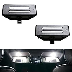 See iJDMTOY OEM Replacement Xenon White LED Vanity Mirror Light Assemblies For BMW 3 5 Series X1 X3 X5 X6 Details