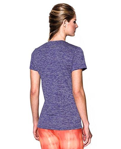 Under armour women 39 s tech short sleeve twist t shirt for Silver metallic shirt women s