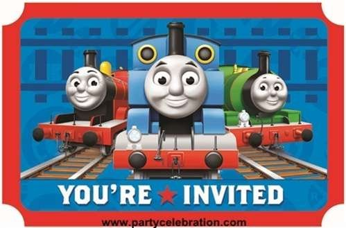 Thomas The Train (Tank Engine) Party Invitations - 8 Pack - 1