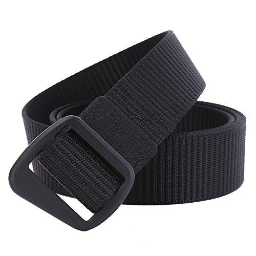 JasGood - Cintura - Uomo Black Buckle Taglia unica