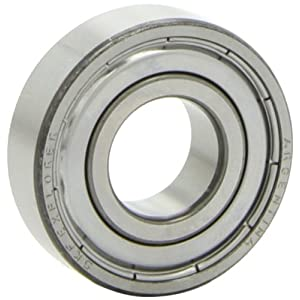 SKF 6203-2Z Light Series Deep Groove Ball Bearing, Deep Groove Design, ABEC 1 Precision, Double Shielded, Non-Contact, Steel Cage, C0 Clearance, 17mm Bore, 40mm OD, 12mm Width, 1070.0 pounds Static Load Capacity, 2150.00 pounds Dynamic Load Capacity