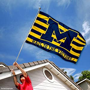 Buy Michigan Wolverines UM University Large College Flag by College Flags and Banners Co.