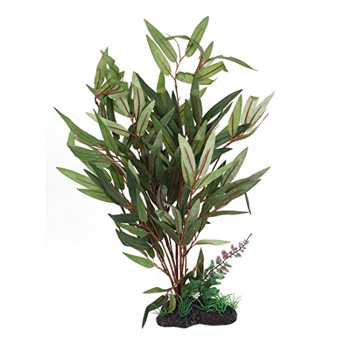 Fish tank decoration artificial aquatic plant 36cm high for Fake pond plants